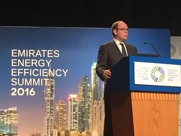 Opening of the EEES Day 2 by His Serene Highness Prince Albert Alexandre Louis Pierre, Prince of Monaco.
