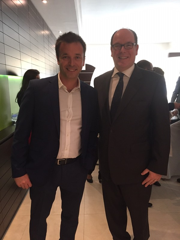 Vladimir Limin with Prince Albert II of Monaco