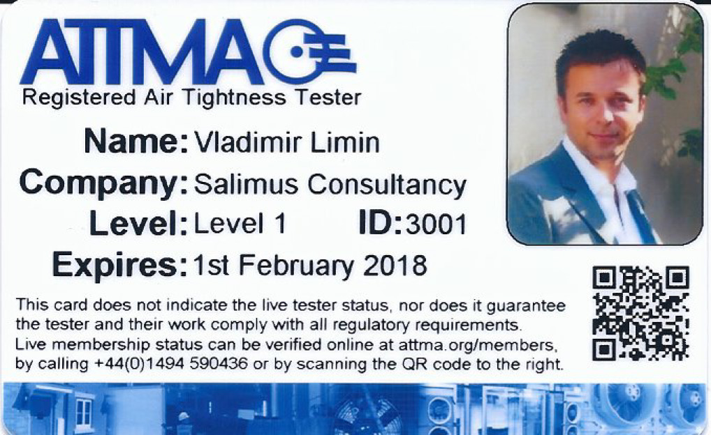 V. Limin - ATTMA Registered Level-1 Air Tightness Tester - Feb 2018_Page_1