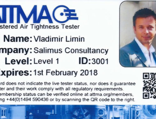 Salimus Air Tightness Testers are Now Full Members of ATTMA's Competent Persons Scheme