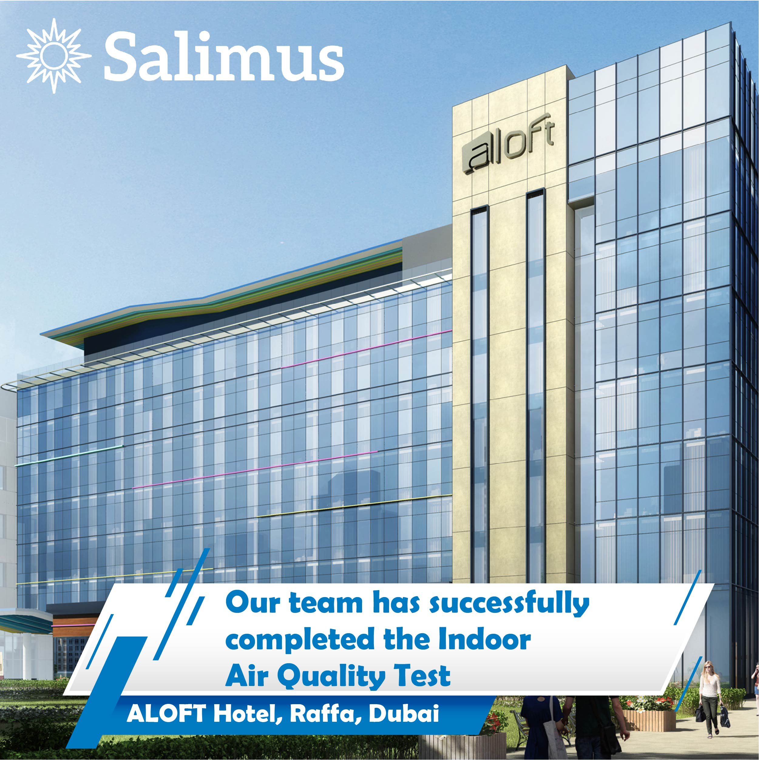 Indoor Air Quality Test in Aloft Hotel